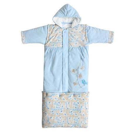 妙佳宝贝婴儿睡袋 舒适儿童防踢被子 冬款加长加厚保暖 宝宝睡袋