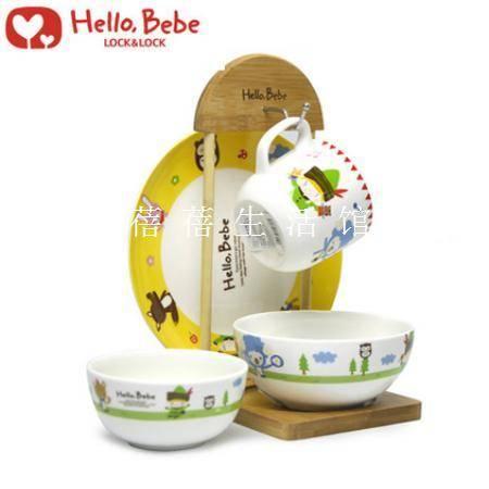 乐扣乐扣 Hello Bebe5件套儿童套装黄色HBB470S5-OCH