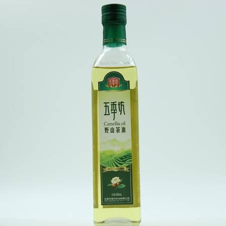 岳西大别山野生山茶油食用油 压榨茶油茶籽油 自榨茶籽油 500ml