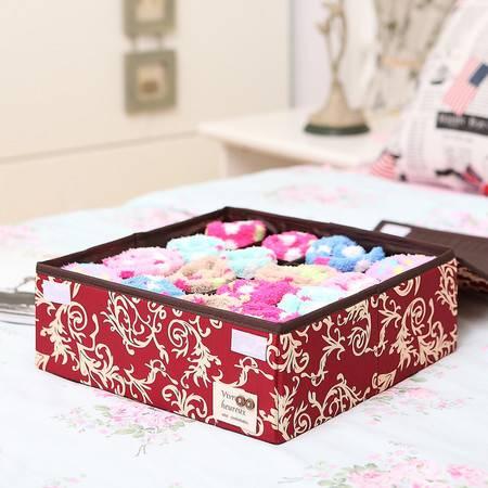 弹片设计16格内衣内裤收纳盒布艺衣柜收纳盒袜子整理盒家用抽屉整理箱
