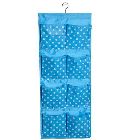 可水洗牛津布八格圆点 内衣裤袜子挂式收纳袋墙上门后储物整理袋收纳袋挂袋