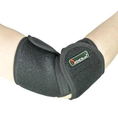 badica正品护手肘男女篮球羽毛球可调节护手臂运动护肘防护护臂 均码 黑色 BT6601