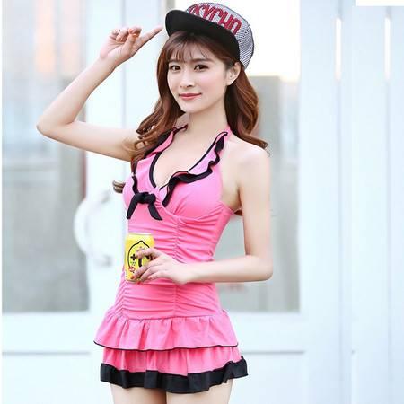 Gnovo 裙式连体泳衣女套装带胸垫 修身显瘦性感速干包邮GY668-1