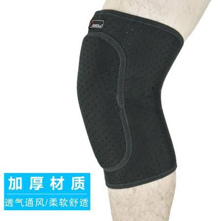 badica护膝运动护套 登山篮球户外跑步膝部保护套护具后开口护膝 黑色BT6504