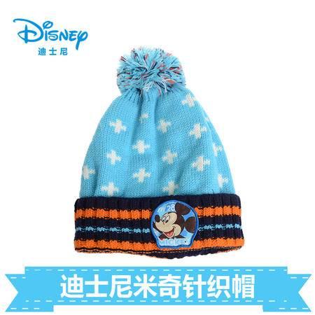 正版迪士尼男童卡通可爱冬季保暖套头帽子 孩子宝宝挡风绒线帽子