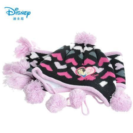 宝宝帽子围巾二件套装 迪士尼秋冬新款男童女童儿童针织帽毛线帽