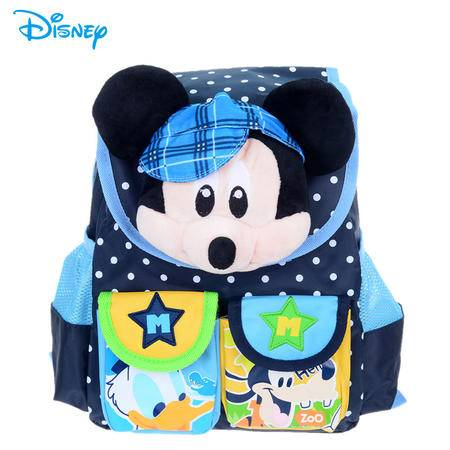 迪士尼米奇米妮卡通双肩幼稚园背包 可爱卡通宝宝玩偶书包