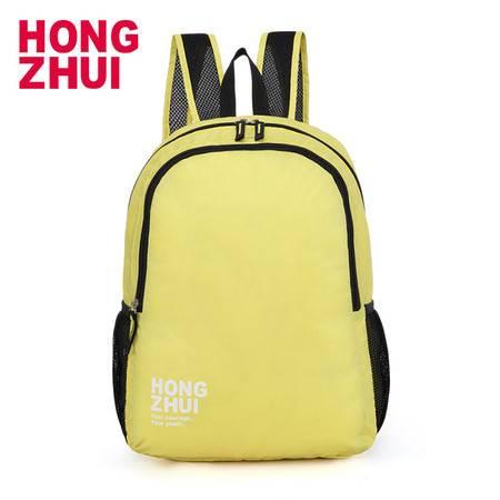 红缀(HZ)新款 双肩包男女背包女包轻薄款可折叠电脑背包女皮肤中