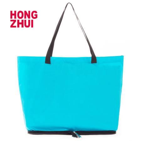 红缀可折叠便携时尚购物袋