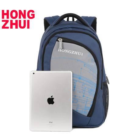 红缀 红缀新款韩版潮夏书包双肩背包运动旅行音乐艺术休闲包hz