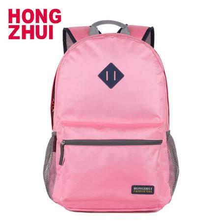 红缀 红缀时尚韩版潮流秋冬季户外双肩包女学生书包hz
