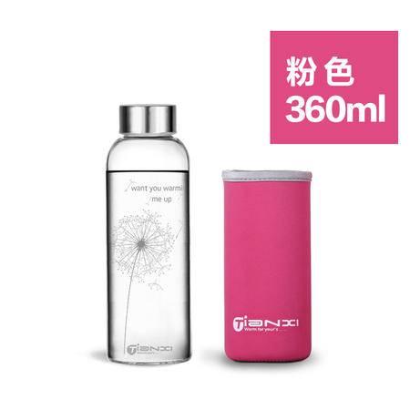 天喜Tianxi  加厚蒲公英玻璃杯+杯刷