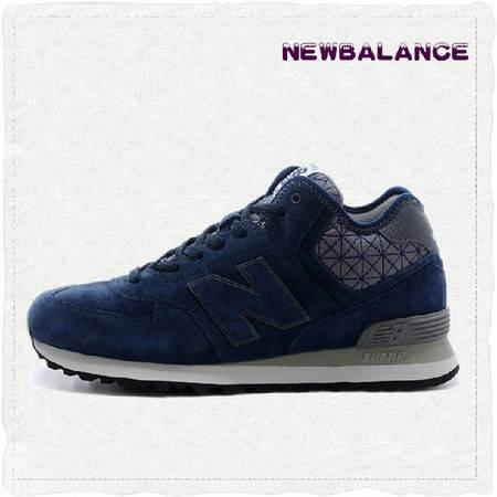正品New Balance新百伦 NB复古高帮男子深蓝跑步鞋运动鞋MH574YVN