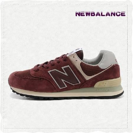 代购New Balance 新百伦正品3M反光男女鞋三原色酒红跑步鞋 ML574VB