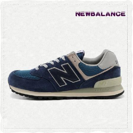 New Balance 新百伦男鞋正品3M反光男女鞋三原色蓝色跑步鞋 情侣鞋ML574VN