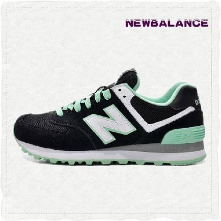 正品New Balance旗舰店 新百伦女鞋复古鞋黑绿休闲运动鞋跑步鞋WL574CPC