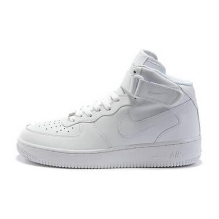 正品耐克男鞋空军一号AIR FORCE 1 '07 全白男子高帮板鞋女鞋 315123-111