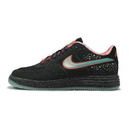 正品耐克男鞋 Lunar Force1 Fuse Prm QS银河星空板鞋 596727-001