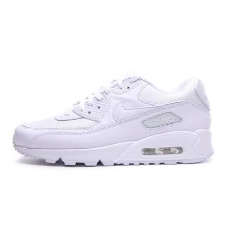 耐克男鞋/NIKE  Air Max 90 全白女子休闲复古跑步鞋情侣运动鞋537384- 111