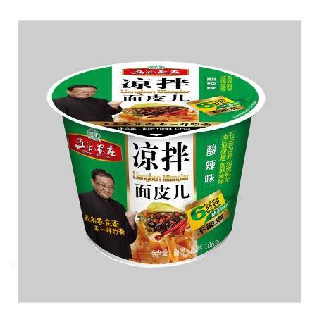 五谷农庄 酸辣味凉拌面皮105g 1*12桶   0089