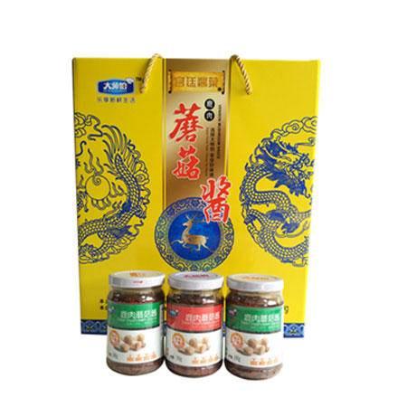 五谷农庄 蘑菇酱(宫廷版礼盒) 240g*9  0088