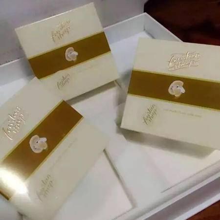 【包邮】澳洲格兰平十四只绵羊奶手工皂300g礼盒装内装三块