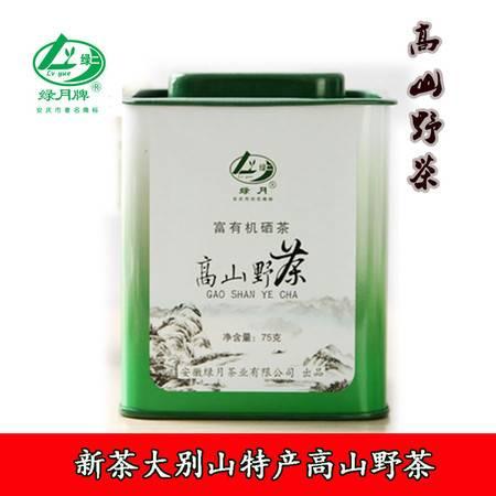 2015年岳西特产高山野茶茶业 绿茶特级 铁盒包装75g
