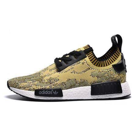 adidas阿迪达斯新款透气运动鞋 NMD 斑驳黄男鞋运动鞋休闲跑步鞋