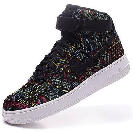 耐克新款正品空军一号板鞋AF1板鞋高帮男鞋黑人月(刺绣)休闲运动板鞋