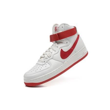 正品耐克Air Force1空军一号全白中国红男鞋高帮女鞋板鞋休闲运动鞋情侣鞋