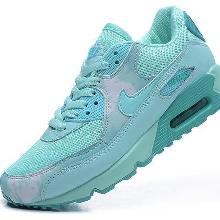 耐克女鞋NIKE Air Max90透气跑步鞋增高樱花薄荷绿休闲透气运动气垫鞋
