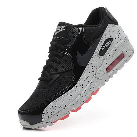 耐克NIKE AIR MAX 90 星空系列黑灰泼墨气垫鞋男女运动鞋情侣厚底增高跑步鞋休闲鞋