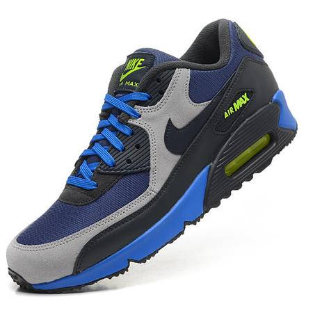 新款耐克NIKE AIR MAX 90男子抓地底纹气垫复古休闲透气网面厚底增高跑步运动鞋