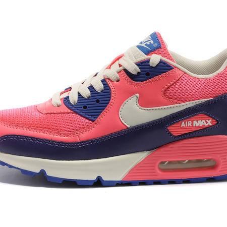 耐克Nike AIR MAX90桃红紫女鞋时尚跑步透气网面增高鞋女子复古运动休闲鞋