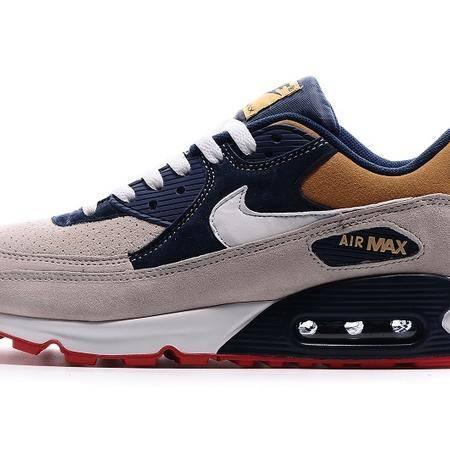 耐克NIKE MAX90 灰深蓝金 复古男女鞋跑步鞋 休闲透气气垫运动鞋情侣鞋
