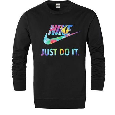 Nike耐克新款长袖T恤男潮上衣纯棉运动长袖圆领套头打底衫卫衣