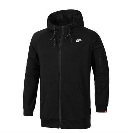 Nike耐克新款男子针织连帽夹克外套 休闲运动服长袖开衫卫衣上衣