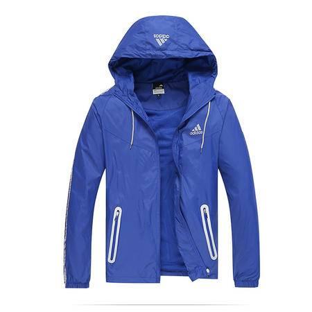 Adidas阿迪达斯新款夹克男士学生韩版修身时尚开衫连帽帅气夹克外套上衣