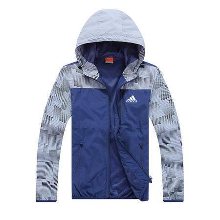 Adidas 阿迪达斯 男士风衣运动服外套 连帽防风衣开衫夹克休闲上衣