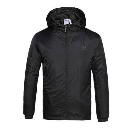 Adidas 阿迪达斯 新款男子运动服休闲夹克外套 长袖连帽风衣外套