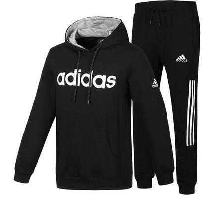 adidas 阿迪达斯 男士运动服套装长袖卫衣套头休闲收口小脚裤两件套