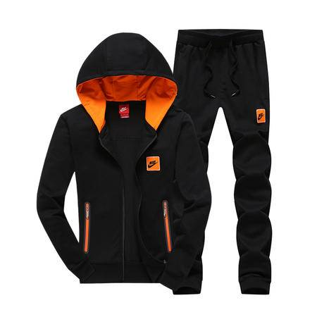 Nike 耐克 男士新款卫衣长袖连帽开衫外套纯棉长裤情侣跑步运动服套装