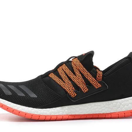 adidas 阿迪达斯 爆米花男鞋黑白运动鞋网面透气跑步鞋新款轻便女鞋情侣鞋