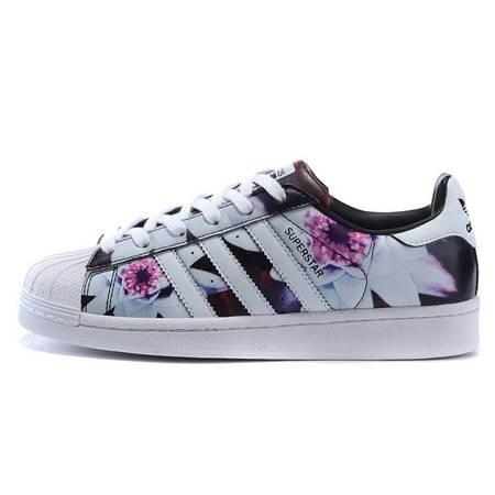 Adidas阿迪达斯 范冰冰同款 贝壳头 白印花女鞋休闲板鞋经典运动鞋
