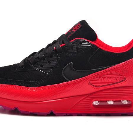 耐克 NIKE AIR MAX 90 女子黑玫瑰气垫厚底增高男鞋休闲运动跑步鞋情侣鞋