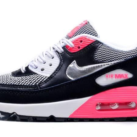 耐克 NIKE AIR MAX90  复古黑银女鞋双网面气垫增高运动鞋休闲跑步鞋子