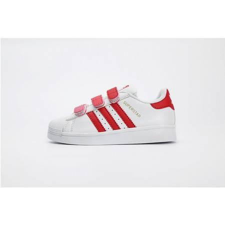 Adidas 阿迪达斯史密斯smith三叶草渐变色男女童鞋魔术贴运动休闲鞋板鞋