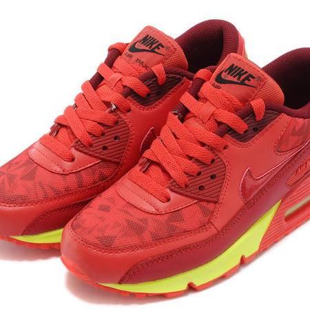 耐克男鞋Nike Air Max90 大红跑步鞋女子网面透气休闲运动气垫厚底增高情侣鞋