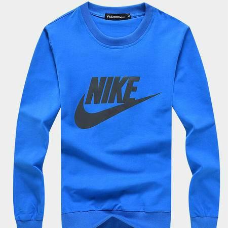 NIKE 耐克长袖T恤男士圆领纯棉套头衫休闲运动服宽松卫衣上衣