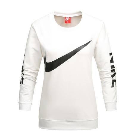 Nike耐克新款长袖圆领T恤休闲修身运动服套头打底衫卫衣学生女子上衣